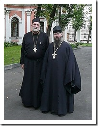 Bishop Mark with Archimandrite Zaccheus