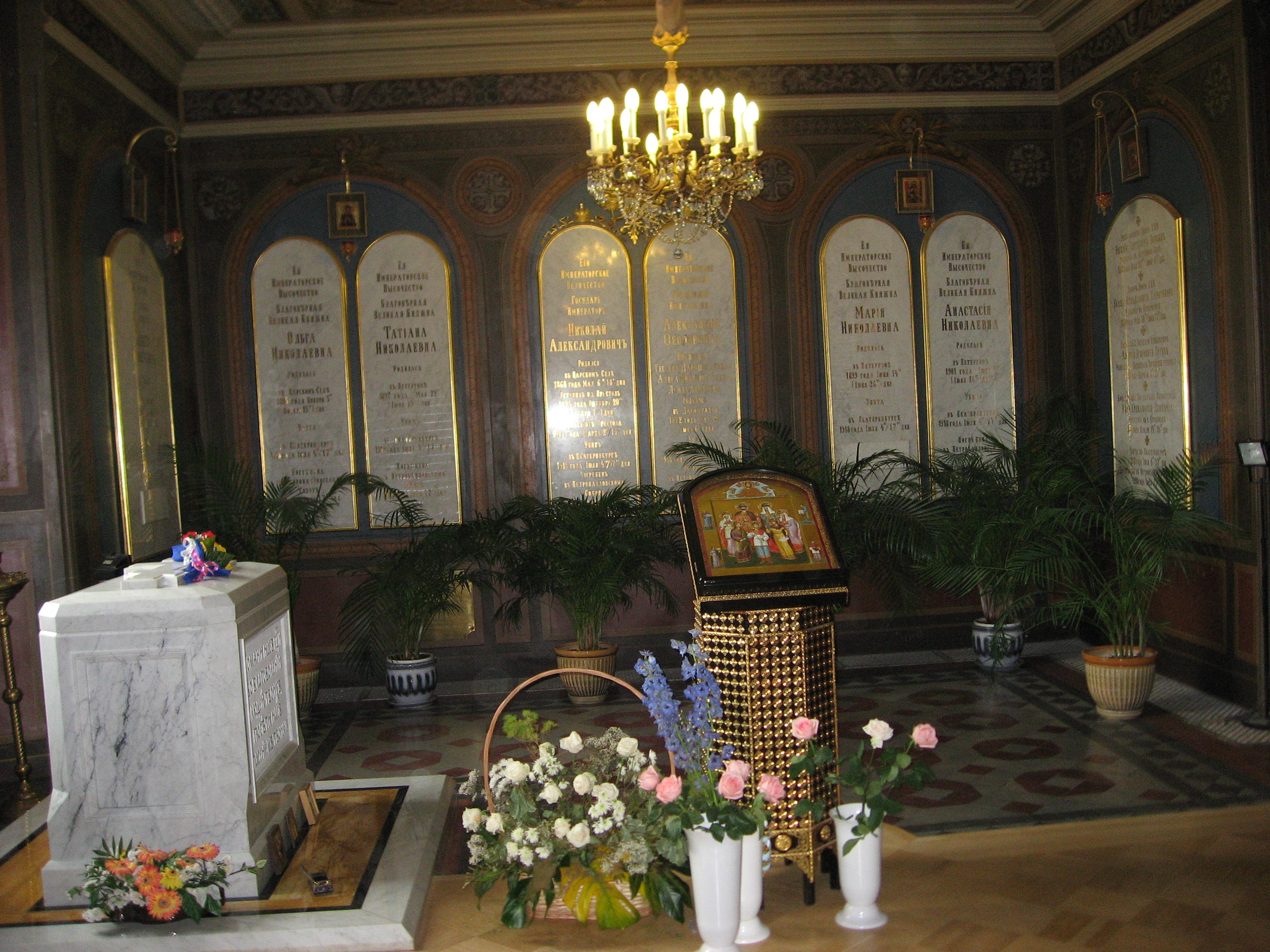 Tomb of Tsar Nicholas II and his family