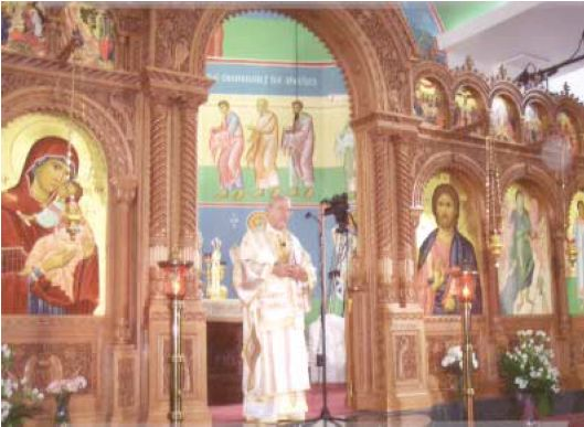 Metropolitan PHILIP presiding over the Enthronement (Click to enlarge)