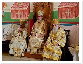 Metropolitan isaiah, bishop basil and archbishop dmitri at the high