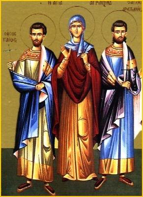 Den hellige Lollia og hennes brødre Probus og Urban