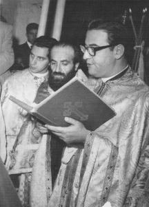 August 14, 1966: Making his confession of faith at his consecration to the Episcopacy.