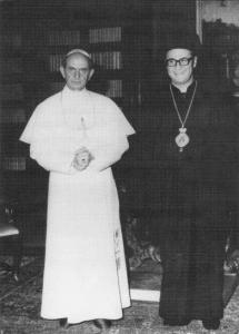 With Pope Paul VI at the Vatican in 1968