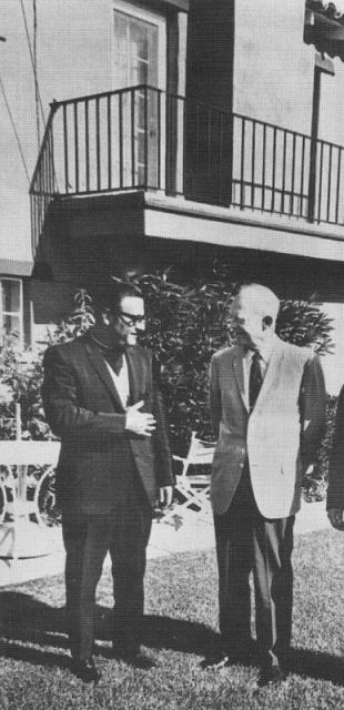 With President Dwight Eisenhower, Palm Springs, CA, 1968
