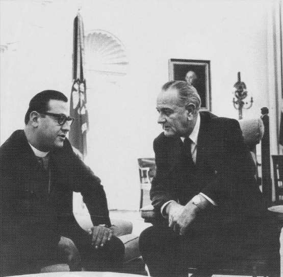 With President Lyndon B. Johnson at the White House