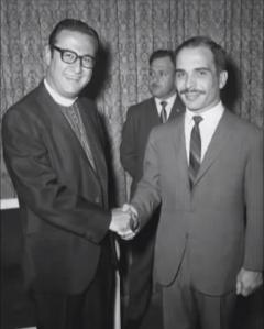 With His Late Majesty King Hussein bin Talal of the Hashemite Kingdom of Jordan