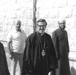 At the Holy Synod meeting at Monastery of Mar Elias, Dhour Choueir in 1975