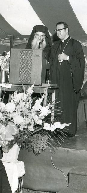 With His Beatitude Patriarch Elias IV of Antioch in 1977