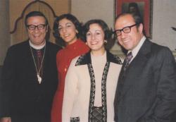 With his nieces Amal Dalack and Najat Nicola, and his brother Dr. Najib Saliba