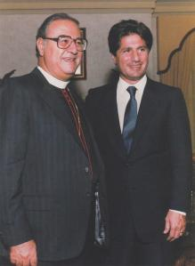 With President Amin Gemayel of Lebanon in 1987
