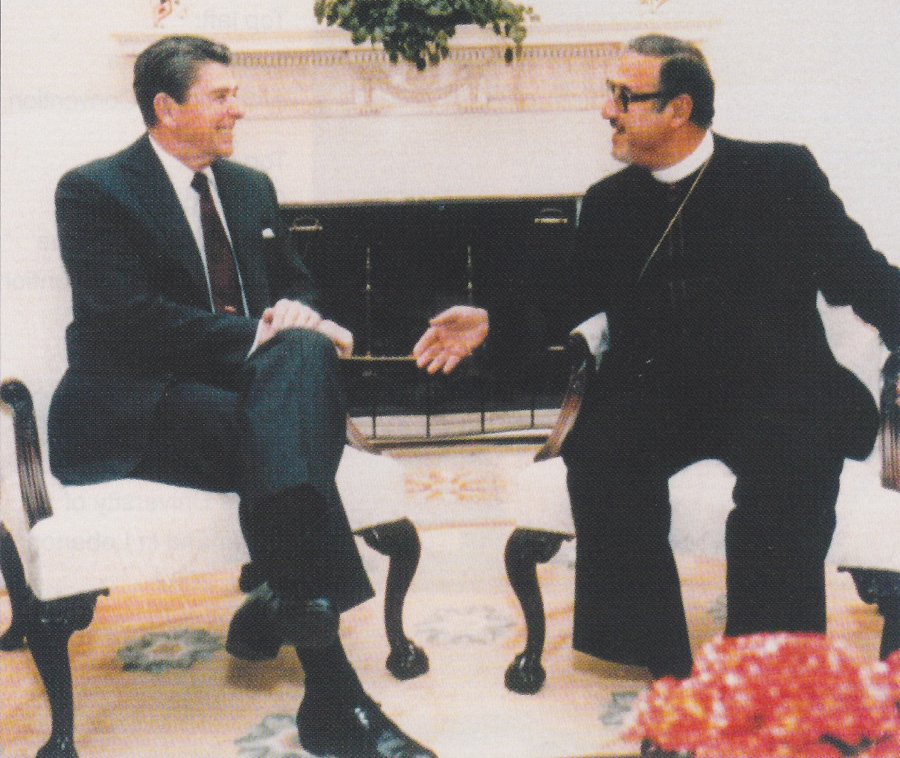 With President Ronald Reagan in the White House