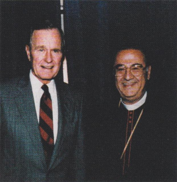 With President George H.W. Bush at the 1991 Convention in Virginia