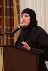 Mother Alexandra speaking at the Order of St. Ignatius dinner