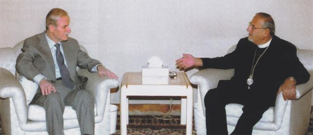 With Syrian President Hafez Al-Assad, Damascus, 1996
