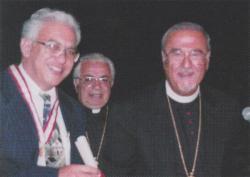 Awarding the Antonian Gold Medal to Charles Ajalat