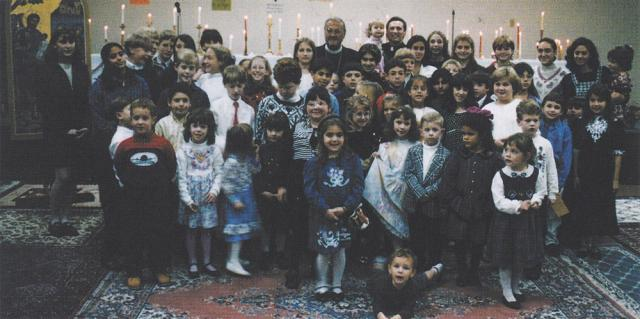 With Fr. John Nosal and the Church School, Greensburg, PA