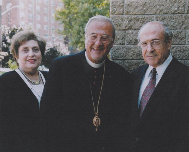 Metropolitan Philip with his sister-in-law Elaine and his brother Dr. Najib Saliba