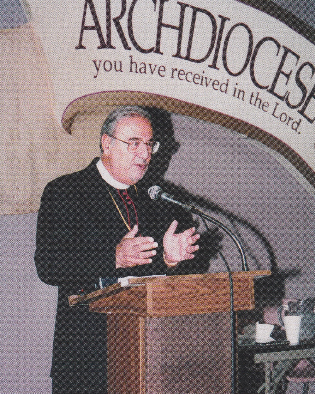 Addressing the Task Force to Support Jerusalem, 1995