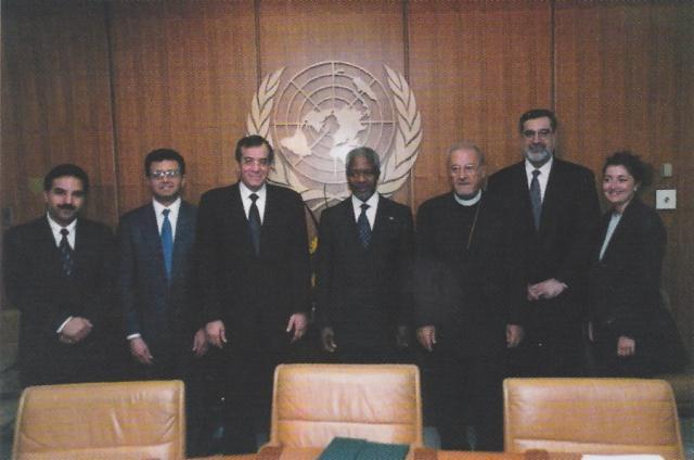 With United Nations Secretary General Kofi Annan