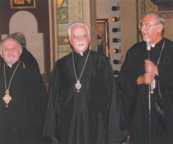 With Metropolitans Antonio Shedroui and Sergios Abad