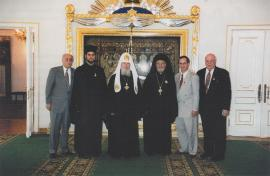 With Patriarch Alexi of Moscow in 1997