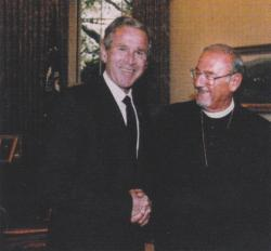 With President George W. Bush