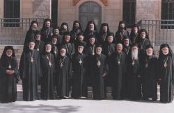 With members of the Holy Synod of Antioch in 2002