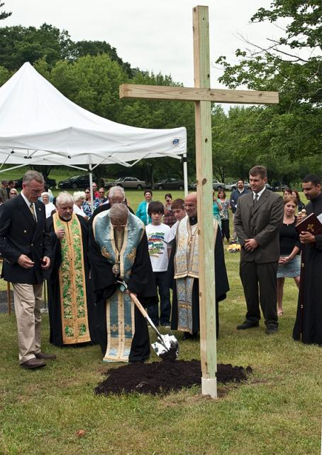 Groundbreaking ceremony for St. George Church in Bridgeville, PA