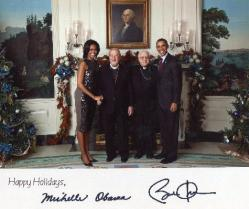 With President and First Lady Barack and Michelle Obama and Fr. Joseph Rahal in 2011