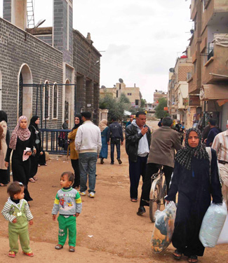 Winter provisions for Syrian families