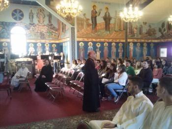 Bishop Thomas visits with parishioners at St. Philip, Souderton, PA