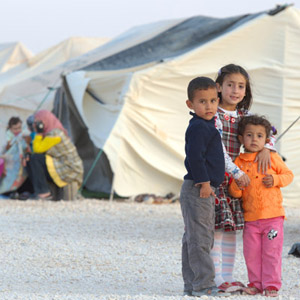 Children in the  in the Za'atari Refugee Camp near Mafraq, Jordan (photo: Paul Jeffrey/ACT Alliance)