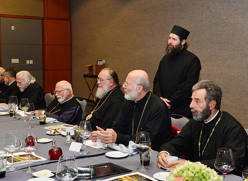 Metropolitan Joseph and fellow bishops at Assembly V meeting in Dallas, TX, Sept. 2014
