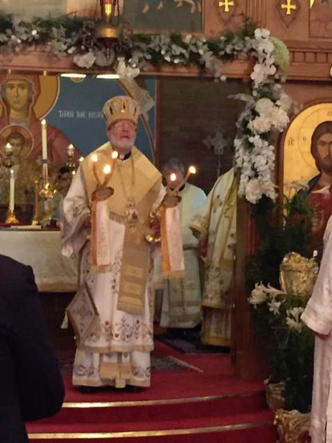 Celebrating the Divine Liturgy at St. George in Boston, April 30, 2017