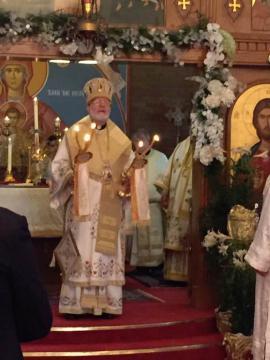 Celebrating the Divine Liturgy at St. George in Boston, April 30, 2017