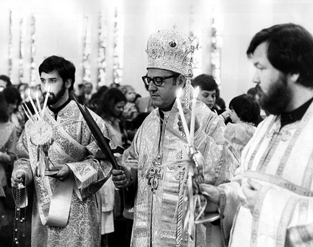Newly-ordained Deacon Joseph Purpura, Palm Sunday 1977