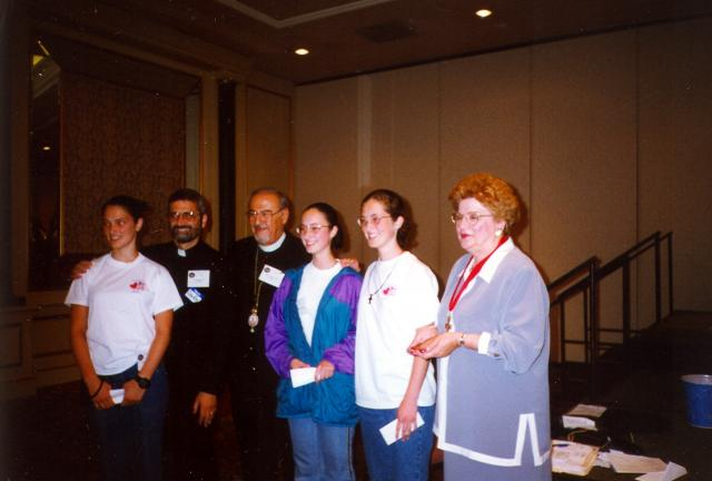 Bible Bowl winners at the 1999 Chicago Convention - Younes sisters from Toronto
