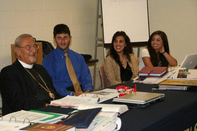 Metropolitan Philip with Archdiocese youth