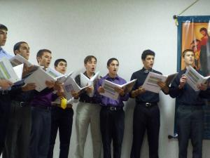 Youth participants in Sacred Music Institute