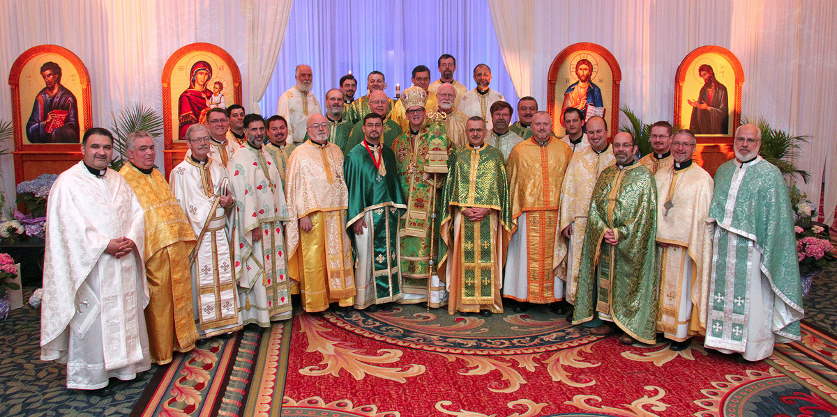 Bishop Anthony and Clergy at Hierarchical Liturgy