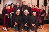 Bishop Athony with St. Mary's Dabkeh Troupe at the Grand Banquet