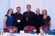 Bishop Anthony with the Host Parish Clergy