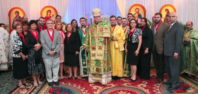 Newly inducted members of the Order of St. Ignatius