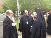 Met.Tikhon, Bp. Ephraim (Syrian Church) and Bp Nicholas (Antiochian Church) before prayer walk in Kelly Ingram Park