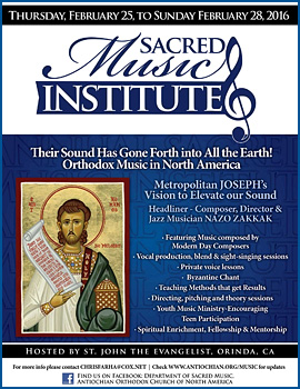 Sacred Music Institute: Orinda, CA @ St. John Antiochian Orthodox Church   | Orinda | California | United States
