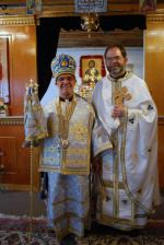 New arrived priest Fr. Raphael with Bishop Thomas
