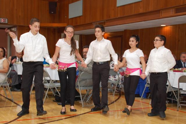 Children's dabke troupe performs