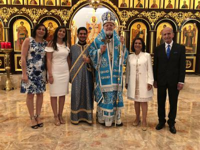 Metropolitan Joseph with St. George ordinands and their families