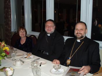 Bishop Nicholas with Fr. George and Kh. Carol