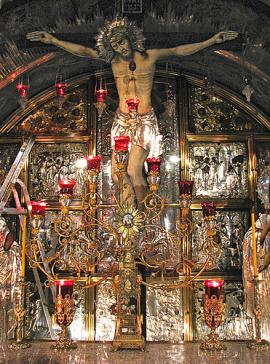 Altar in the Church of the Holy Sepulcher